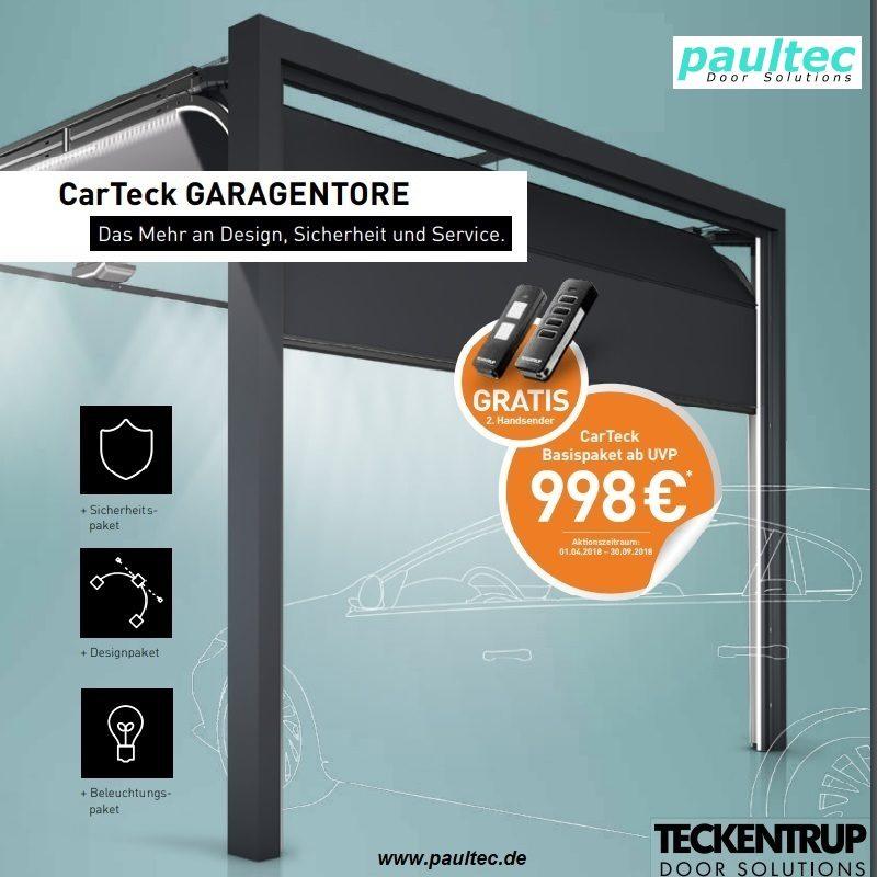 Garagen-Sektionaltor GSW 40-L Teckentrup -Basispaket A- Antrieb, Fernbedienung, Online anfragen kaufen bestellen